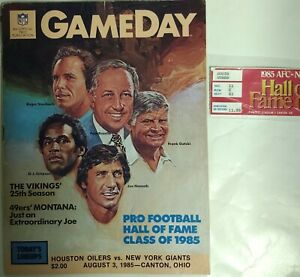 85 NFL Hall of Fame-Namath, Staubach, Simpson Rozelle Pgms, Stub & 10 Autographs