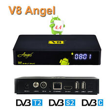 FTA DVB-S2/T2/C V8 Angel Satellite Terrestrial Cable Receiver Android TV BOX