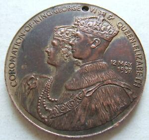 RARE, VINTAGE ROYAL MEDAL - GEORGE VI CORONATION 1937 - SUTTON COLDFIELD MAYOR