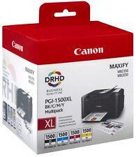 4x Original PGI-1500 XL Canon Maxify MB2050 MB2150 MB2155 MB2350 MB2750 MB2755