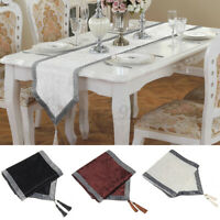Table Runner Cloth Cover Wedding Party Home Decoration 32x180CM 32x210CM