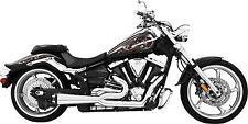 Freedom 2-Into-1 Exhaust System-BLK/Chrome Kawasaki Vulcan/Vaquero 09-13 MK00006