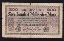 Germany - 200 Milliarden Mark 1923 - G/Vg -