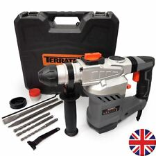 Terratek 1500w Rotary Hammer Drill SDS Heavy Duty Impact Drill Complete With &
