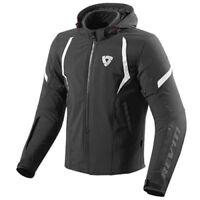 Rev'it Motorcycle Motorbike Waterproof  Burn Hood Textile Jacket Black
