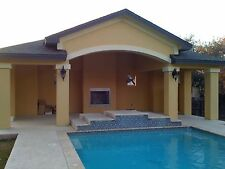 Pool House / Cabana / BBQ Pavillion / Outdoor Living  with Fireplace, 36' x 18'