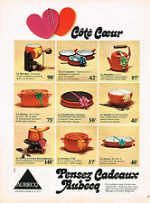 PUBLICITE ADVERTISING 064  1973  AUBECQ    CASSEROLES POELONS  MITOUNE