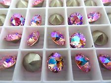 6 Light Rose AB Swarovski Crystal Chaton Stone 1088 39ss 8mm