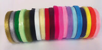 50 Yard/46 mtr Roll Of Sheer Organza Ribbon - 6 & 10mm width - Many Colours