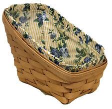 Longaberger Small Vegetable Basket 1996, Rose Trellis Liner, Protector