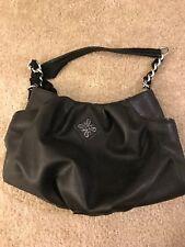 Simply Vera Wang Womens Ladies Purse Handbag Shoulder Satchel Black Faux Leather