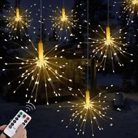 200LED Solar/Battery 8 Mode Hanging Starburst Fireworks Fairy String Light Party