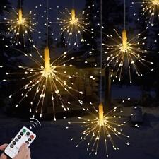 200LED Solar/Battery 8 Mode Hanging Starburst Fireworks Fairy String Light Party