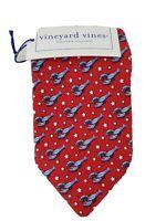 Vineyard Vines Custom Collection Red Silk Mens Tie Lobstar