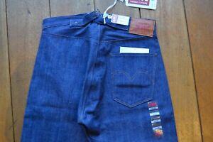 LVC 1890 501XX Jeans 2x1 Denim Levis Vintage Clothing Waist Overalls NWT W34 STF