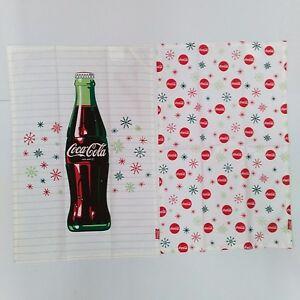 Coca-Cola Snowflakes & Bottle Dishtowels (2 Pack) - BRAND NEW