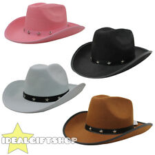 STAR STUDDED COWBOY HAT WILD WESTERN FANCY DRESS PARTY COWGIRL COSTUME ACCESSORY