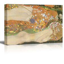 """Wall26 - """"Water Serpents Ii Water Snakes"""" by Gustav Klimt - Canvas Art - 32x48"""