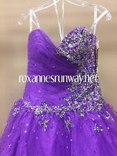 Tiffany Quinceanera 56206 Purple Black Ball Gown Dress sz 12