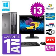 PC HP 8200 SFF Intel I3-2120 8gb Disco 2To Grabador Wifi W7 Pantalla 22""