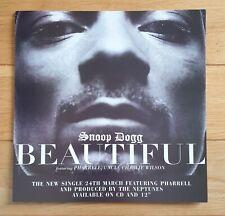 Snoop Dogg Beautiful Promo Poster Ultra Rare