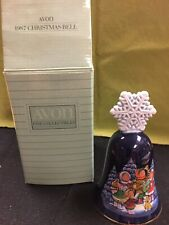 Vintage Avon Christmas Carolers Bell with Snowflake Topper, 1987