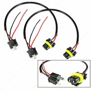 9006 to H4 Conversion Wires harness Adapters Sockets Headlight Retrofit HID Kit