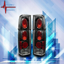 Winjet Altezza Tail Lights For 86-97 Nissan Pickup D21 Hardbody Black/Clear
