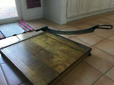 """Vintage Heavy Duty Wooden Paper Cutter 24""""x24"""" Great Condition. Beautiful!"""