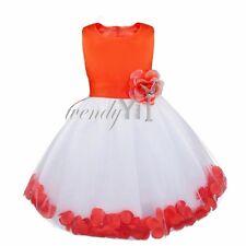 Flower Girl Princess Dress Kids Baby Party Wedding Bridesmaid Pageant Birthday