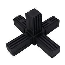 Kunststoff 25x25 Vierkant Rohr Kreuz Verbinder Mit 5 Abgängen Polyamid Für Regal