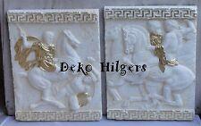 2 Relief Alexander der Große Pferd Wandrelief Römer Wandbild Bild Stuck 7576 141