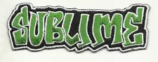 Sublime Embroidered Patch Sublime Green Lettering 4 Inches x 1 1/2 Inches