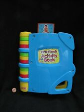 Fisher Price B4762  FIRST WORDS ACTIVITY BOOK Clean Nice RARE 2002 Baby Learning