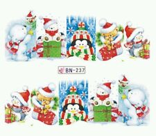 Christmas Nail Decals (WATER DECALS) Christmas Nail wraps!