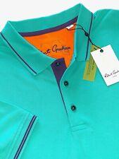 Robert Graham Skull Heads Seafoam Cotton Polo Shirts