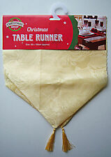 Christmas Table Runner Home Cream