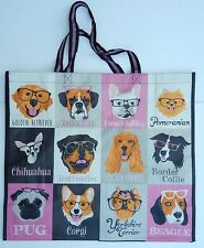 REUSABLE SHOPPING TRAVEL TOTE BAG DOGS ECO FRIENDLY TJ MAXX NEW