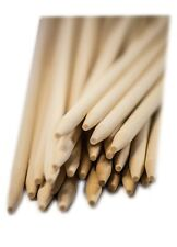 "100 Skewers Wooden Fruit Meat Thin Sticks - Semi Pointed - 5.5"" x 3/16""  WRS55SP"