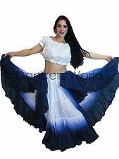 25 yarda Danza Árabe Danza Falda De Algodón & Top 2pc sombreada Tribal Gypsy Color