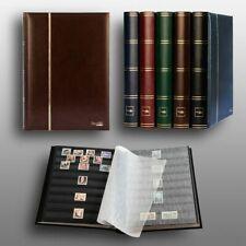 Prophila Leuchtturm 60 schwarze Seiten Briefmarkenalbum Einsteckbuch wattierter