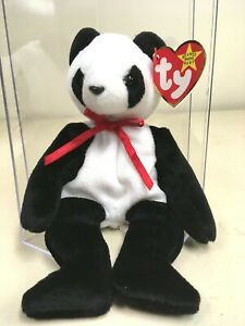 """Ty Beanie Baby """"Fortune"""" new in case -China stamp 455 inside Tush tag - Errors"""