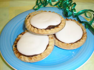 12 HOME MADE ICED MINCE PIES     Free Postage   Family Bakery Shop