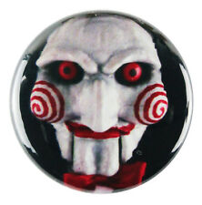 "1"" (25mm) 'Saw' Jigsaw Puppet Face Horror Button Badge Pin - Custom Badge"