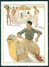 Militari Coloniali Africa Orientale Risque Nude Ethnic FG cartolina XF3076