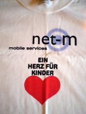 T-Shirt Weiss  Motiv - EIN HERZ FÜR KINDER net-m mobile services -  Gr. M / Neu