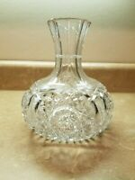 American Brilliant Cut Leaded Glass Crystal Water Wine Carafe Decanter Damaged