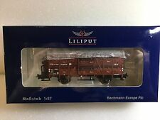 Liliput L235109 Cattle Wagon With Brakeman's Cab DR Epoche III H0 New T48 Post