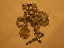 chapelet ancien argent nacre antique sterlg silver mother of pearl rosary 44 cm