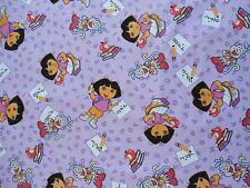 "Dora Fabric 1 1/2 Yards  54"" x 44""  Dora Going to School Dora and Boots Fabric"